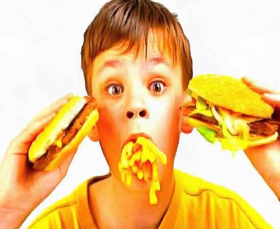 вредная еда - дети