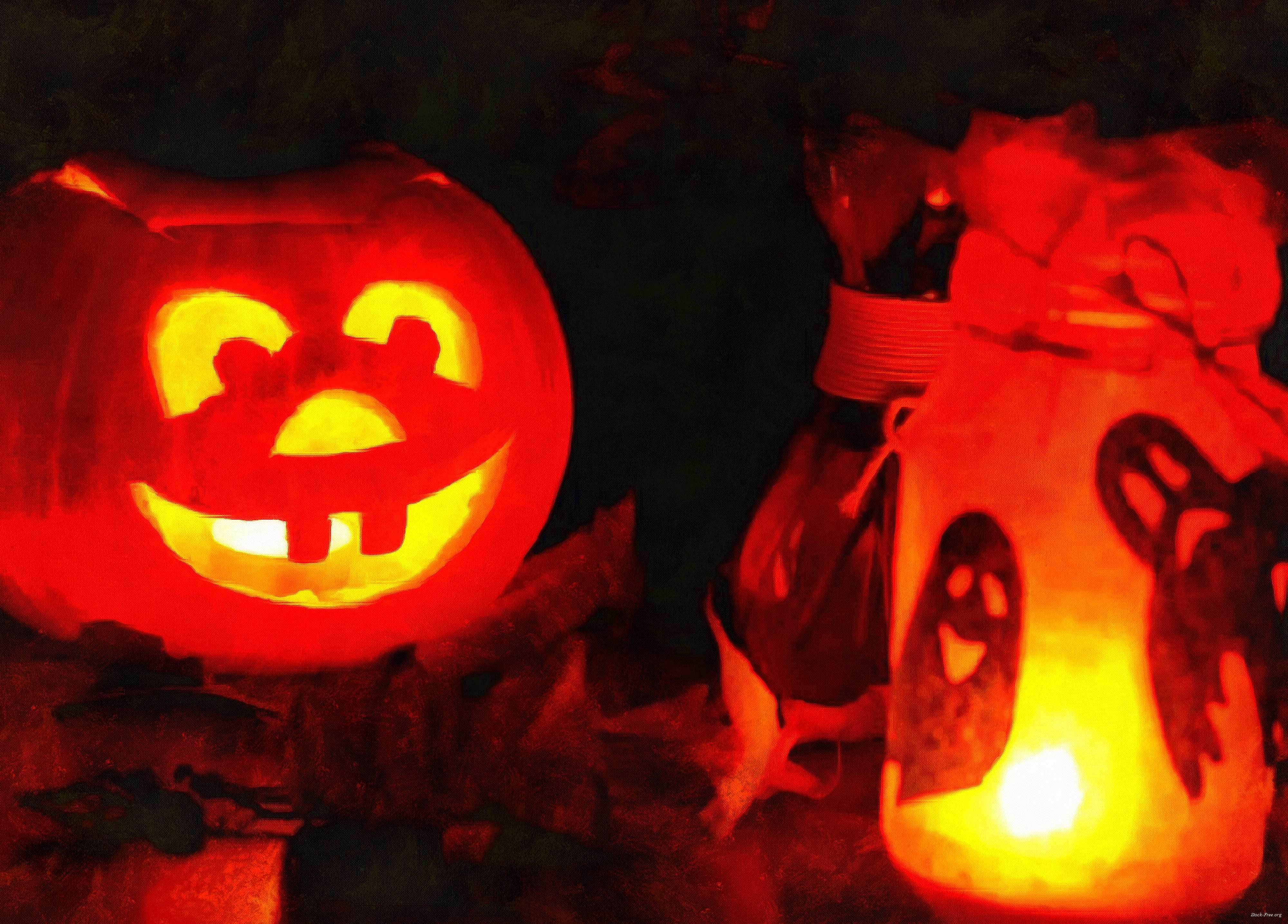 light, candle, pumpkins, holiday, smile, candle, Halloween pumpkin