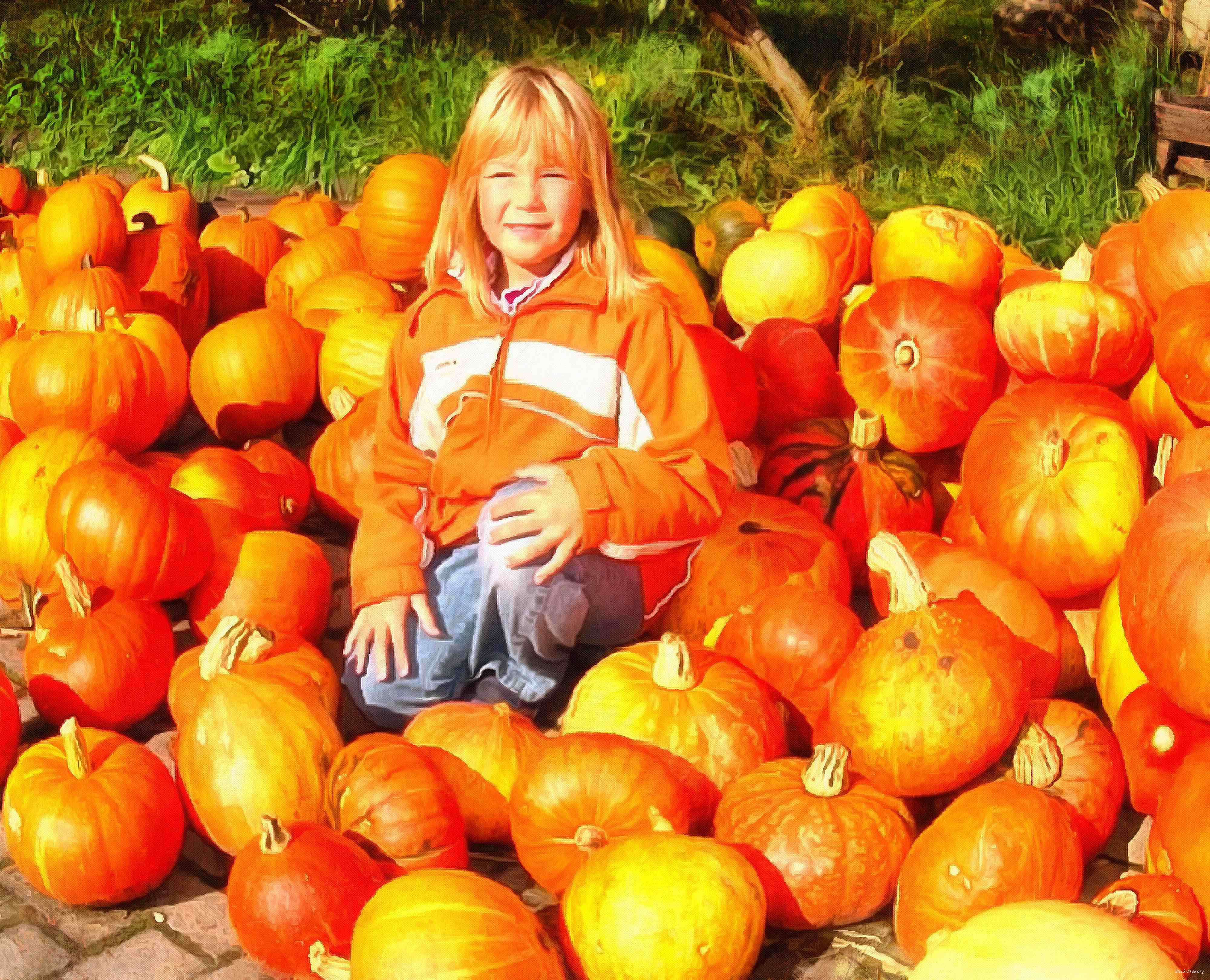 girl, kids, pumpkin, holiday, flame, candle, smile, candle, horror - halloween, holiday, free images, public domain images, free stock images, download images, free pictures<br>