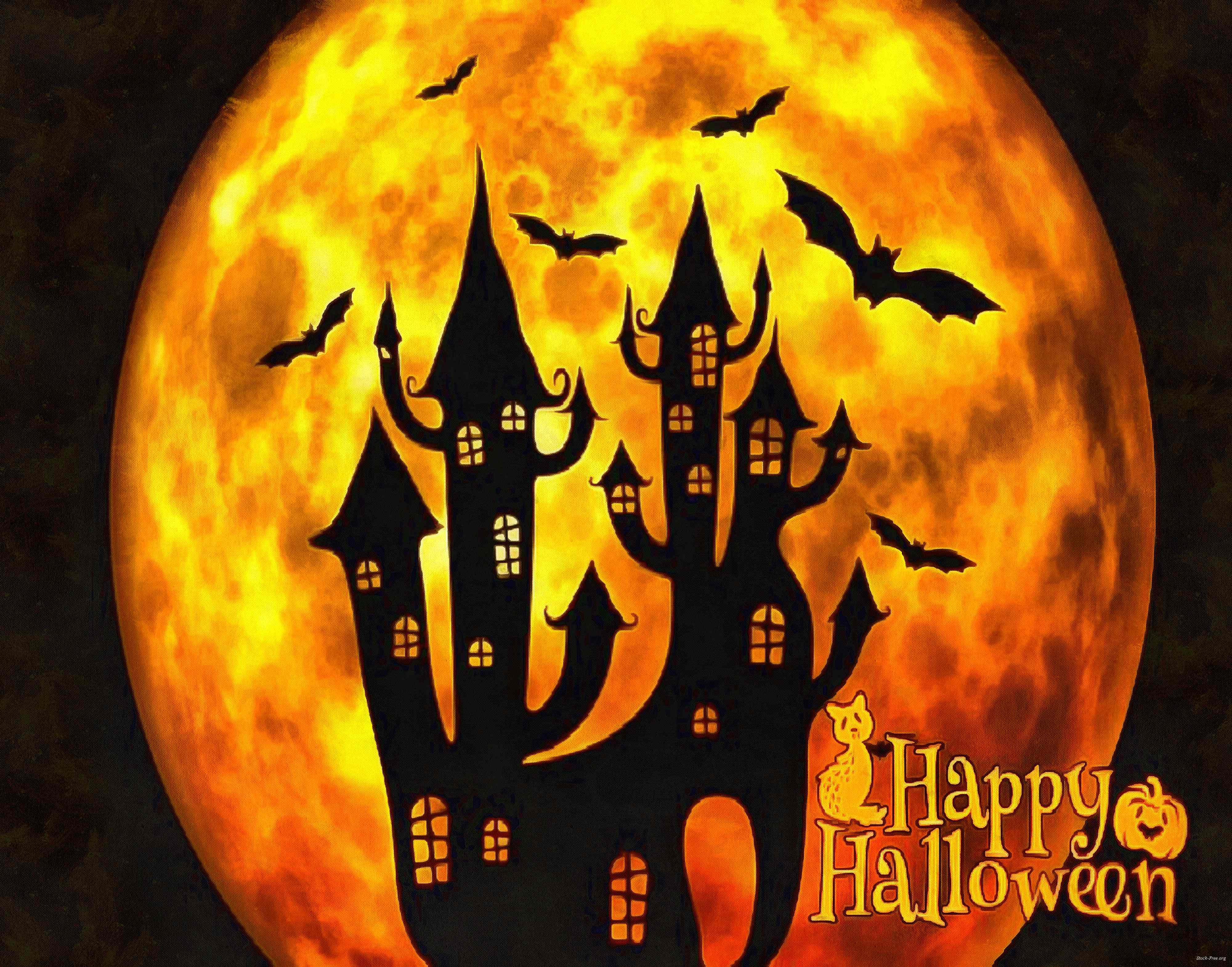 halloween, holiday, moon, happy halloveen, castle, spooky - halloween, free stock photos, public domain images, stock free images, download for free