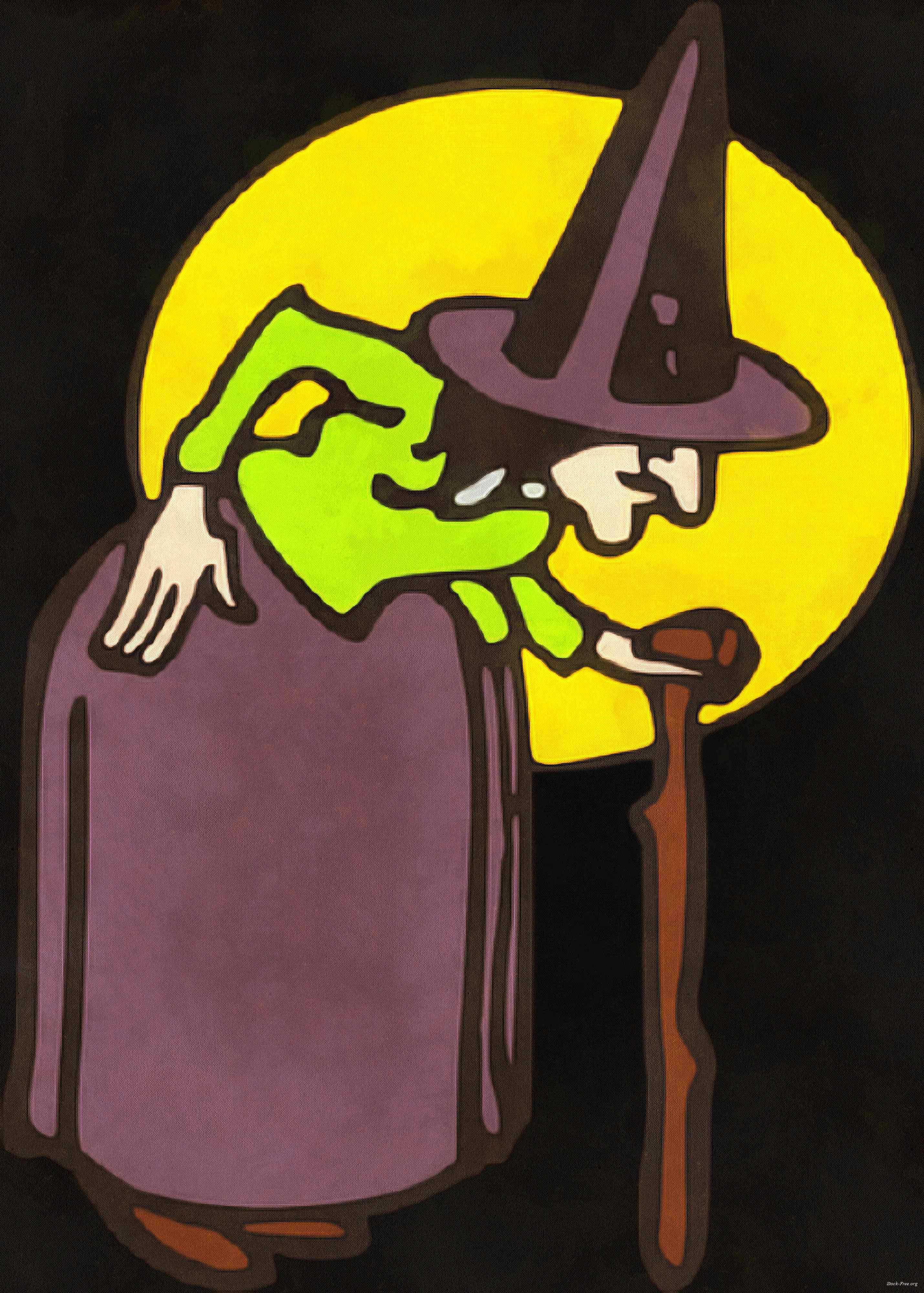 witch, magic, night, lady, moon, magic, hat, dark, spooky, halloween, -  stock free photos, public domain images, download free images, free stock images, public domain