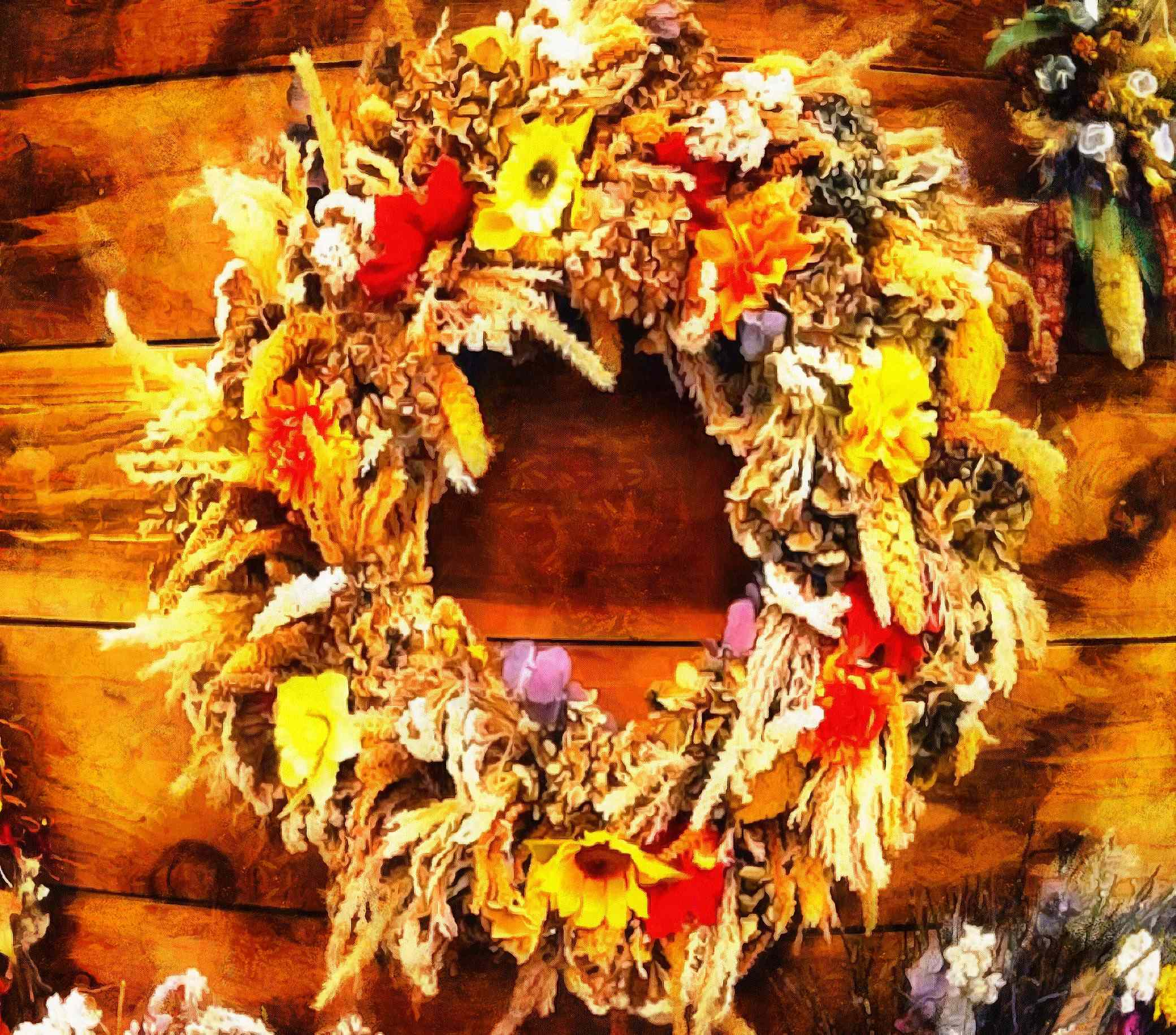 wreath, holiday, holiday wreath, a wreath of flowers,