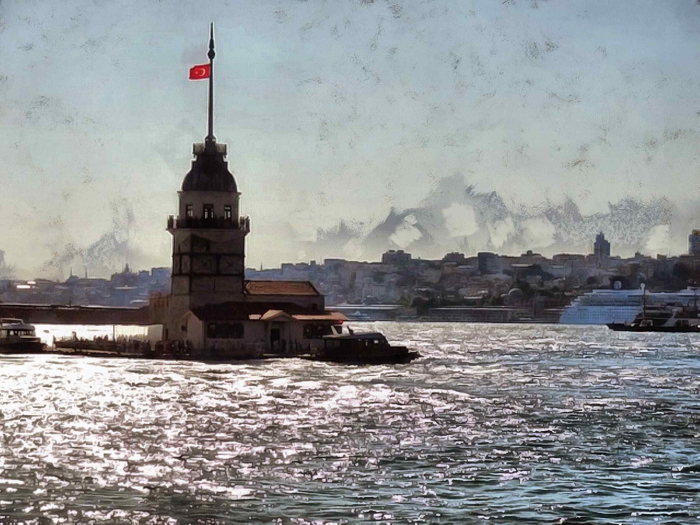 <br>lighthouse, building, Strait, water, turkey, turkey country,