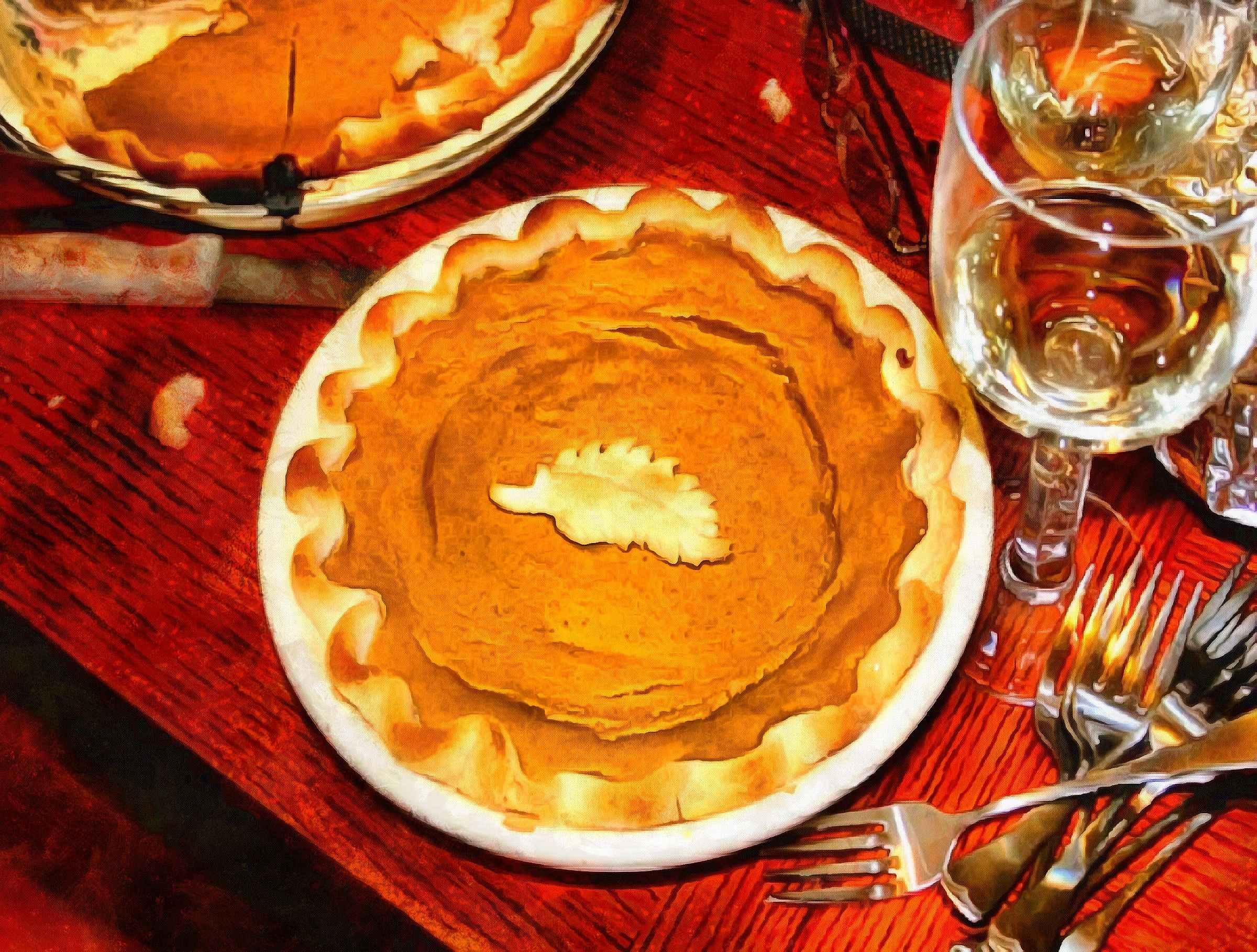 <br>cake, birthday cake, apple pie, utensils, forks, glasses,