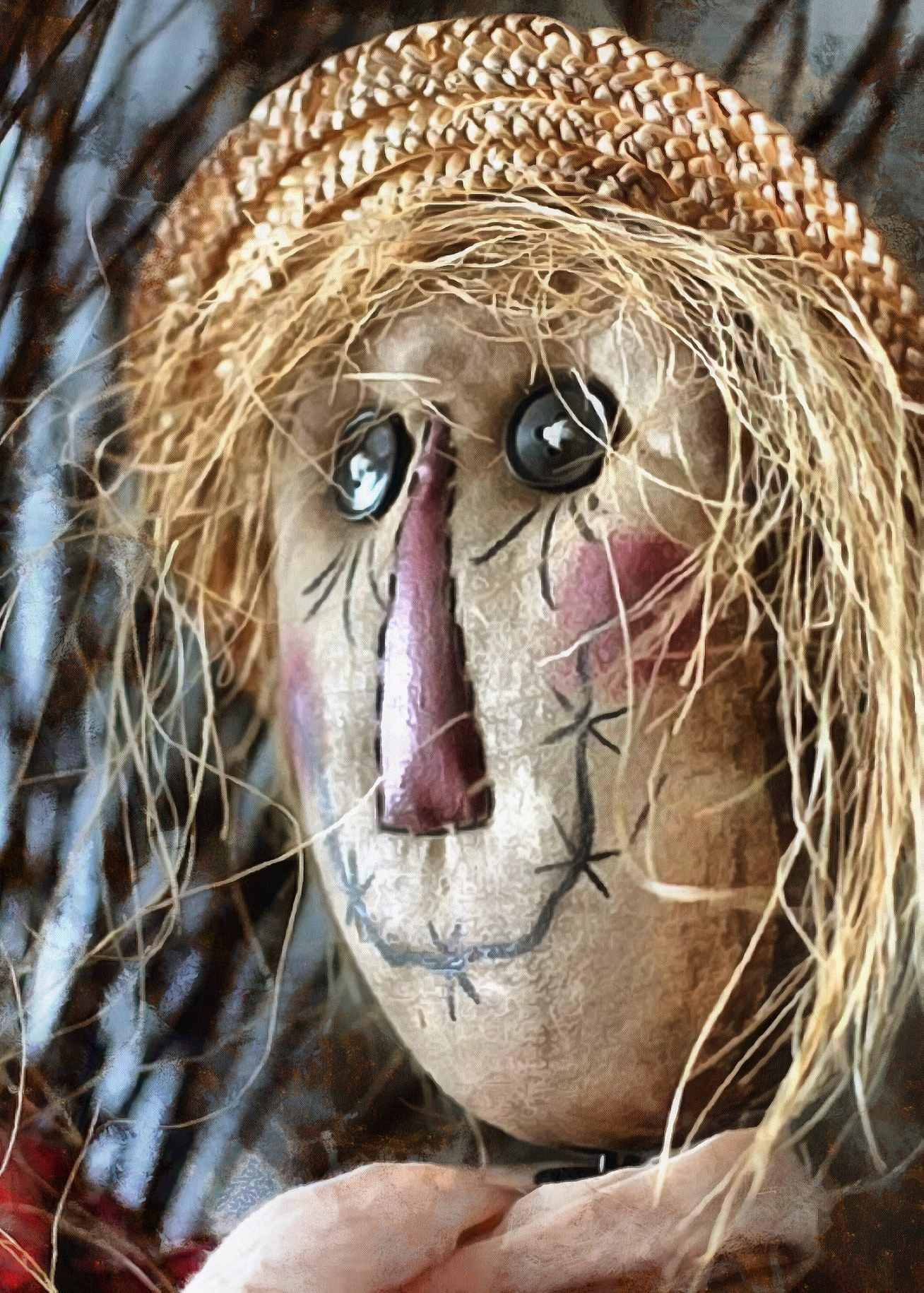 face, doll, unhappy face, toy, scarecrow,