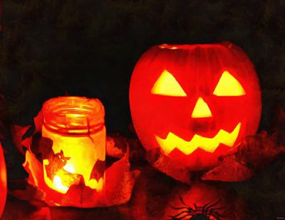 candle, pumpkins, holiday, smile, candle, Halloween pumpkin