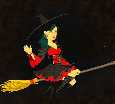 witch, magic, night, lady, moon, magic, hat, dark, spooky, halloween, -  stock free photos, public domain images, download free images, free stock images, public domain