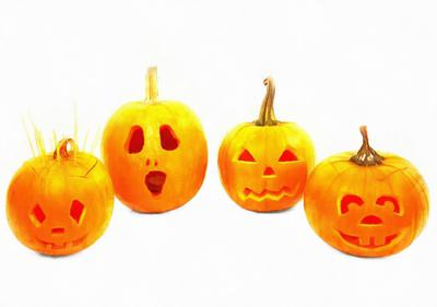 garden, pumpkins, holiday, smile, candle, Halloween pumpkin