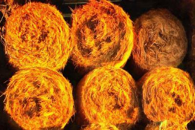 hay, haystack, storage of hay, autumn,
