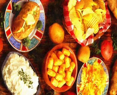 holiday table, potato, food, table,