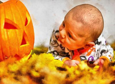 child, baby, toddler, pumpkin, halloween - halloween free image, free images, public domain images, stock free images, download image for free, halloween stock free images
