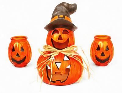 magic hat, autum, pumpkin, holiday, smile, candle, Halloween pumpkin