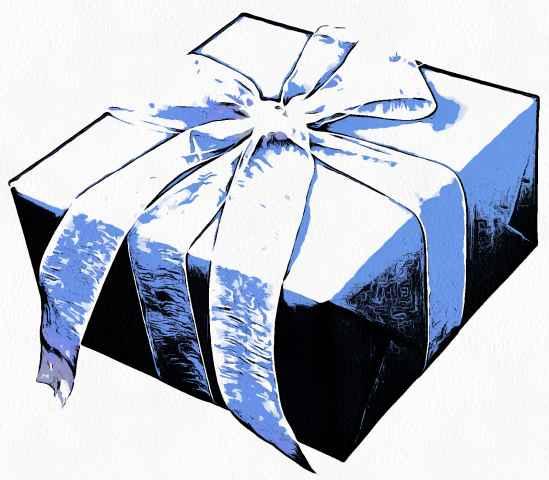 Коробка синяя
