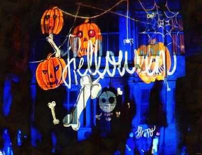 basket, pumpkins, holiday, smile, candle, Halloween pumpkin