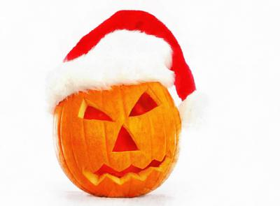 red hat, hat, pumpkins, holiday, smile, candle, Halloween pumpkin