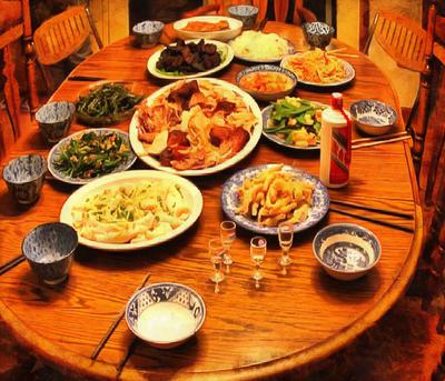 table, feast, festive table, Thanksgiving Day, a holiday