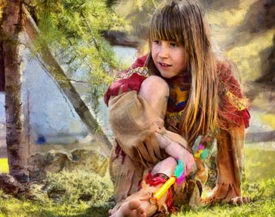 Beautiful Small Girl - StocK Free Image