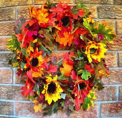 wreath, flowers, holiday wreath,
