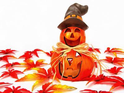 magic hat, hat, pumpkins, holiday, smile, candle, Halloween pumpkin