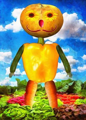 pumpkin, vegetable, man, fairy tale character,