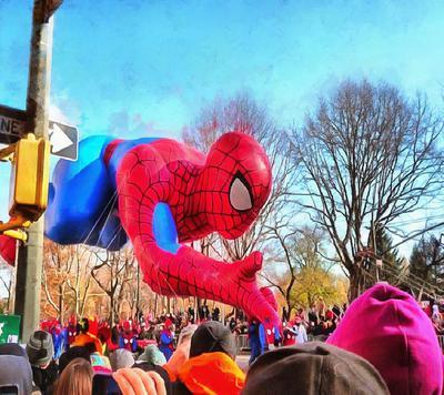 Spiderman, balloon, fair, holiday, Thanksgiving Day,